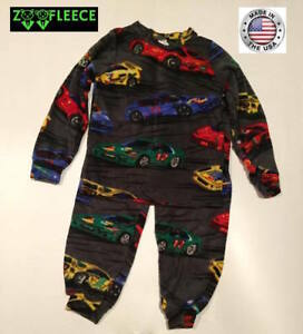 ZooFleece Race Cars Lightning Mcqueen Speed Racer Boys Kids Pajama PJ Sweatsuit