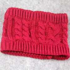 1×Women Stretch Winter Knit Headband Ponytail Beret Hats Beanie Crochet Ski Caps