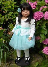 """ARI da MONIKA LEVENIG per capolavoro bambole ~ 34 """"TWIN asiatici a Suri ~ Adorabile!"""