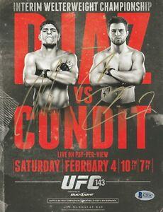 NICK DIAZ CARLOS CONDIT SIGNED AUTO'D MINI POSTER BAS COA UFC 143 WEC ELITE XC A
