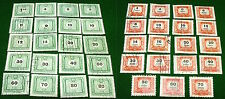 Lot 39 Hungary MAGYAR POSTA Mostly Unhinged Stamps: Red, Green OTVEN EVES SANDOR