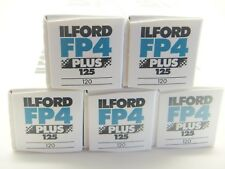 5 x ILFORD FP4 PLUS 125 120 ROLL CHEAP B&W FILM By 1st CLASS ROYAL MAIL