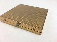 Vintage Dorset Fifth Avenue Brass Mirrored Make-up Powder Compact Case ONLY
