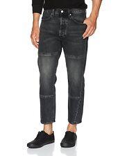 Levi's Men's Altered Drop Crop Jeans Dropped Crotch Tapered Leg 5 Pocket Black
