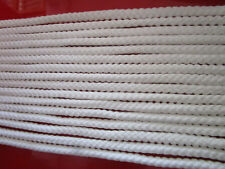 10 METER  Baumwolle Kordel Weiß 5mm  Borte Spitze Nähen