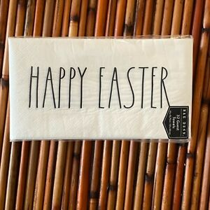 """Rae Dunn """"Happy Easter"""" Paper Hand Guest Towel Pack 32 Count NEW Party"""
