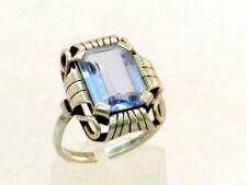 Ring Silber 835 mit Blau Topas - 11