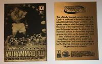 "MUHAMMAD ALI-SONNY LISTON ""SIGNATURED"" THE GREATEST OF ALL TIME"" GOLD CARD!"