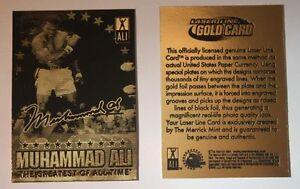 """Muhammad Ali-Sonny Liston """" Signatured """" Il Greatest Di Tutti Volta """" Oro Scheda"""