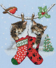 Christmas Kittens Cats Counted Cross Stitch Kit - Anchor