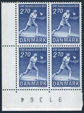 Denmark 734 block/4,MNH.Michel 770. Badminton Championship 1983.