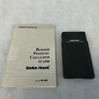 Vintage Radio Shack Business Financial Calculator EC-5500 with Owner's Manual