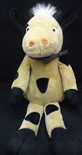 "Brown Cow Black Spots Big Feet White Polkadot Bow Kelly Toy Plush 20"" Lovey"
