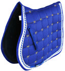 Horse Cotton Quilted All Purpose ENGLISH SADDLE PAD Trail Contoured Blue 72F35