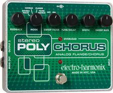 Ehx estéreo PolyChorus efecto dispositivo para guitarra incl. fuente de alimentación Electro Harmonix