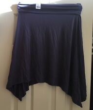 New Womens XS Gap Assymetrical Skirt Purple Fold Over Waist NWT Silky Trapeze