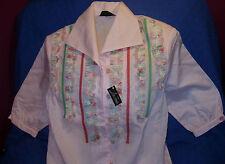 REBAJAS Lilia Olmedo preciosa blusa camisa ,rosa M,XL 46 48 50 PONGO MEDIDAS