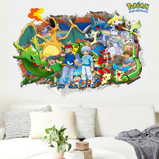 Pokemon Cartoon Pikachu Game 3D Art Stickers Boys Room Decor Vinyl Wall Decal