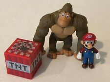 Super Mario Bros Mario and Donkey Kong Figures, TNT Block Cake Toppers Toys
