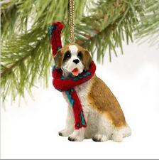 SAINT BERNARD (ROUGH COAT) DOG CHRISTMAS ORNAMENT HOLIDAY Figurine Scarf gift
