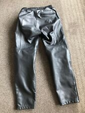 Spidi Naked Leather Motorcycle Jean Pants Trousers Black