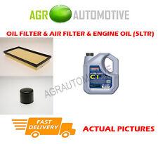 PETROL OIL AIR FILTER KIT + C1 5W30 OIL FOR KIA SPORTAGE 2.0 118 BHP 2000-02