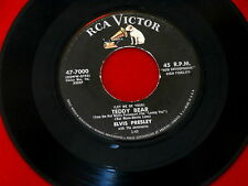 ELVIS PRESLEY~TEDDY BEAR~LOVING YOU~RCA~47-7000 ~ 45