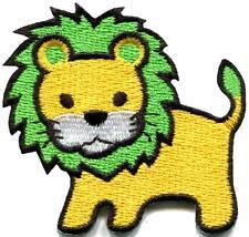 Lion cat puma jaguar tiger cheetah animal cute kids applique iron-on patch S-743