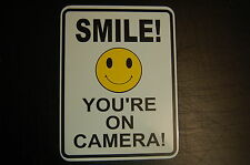 SMILE camera metal sign weaterproof Home Yard warning security office game room