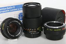 Mamiya Sekor  E Lenses For Mamiya ZX Camera 50mm 135mm 2x