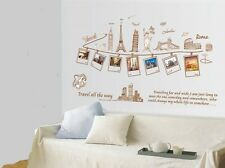 Travel All the Way World WALL STICKERS REMOVABLE HOME DECAL Art Vinyl DECOR
