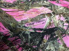 """Ladies Pink MC2 Camo Cotton Poly Water Repellant Twill Fabric 60"""" Camouflage"""