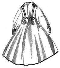 Victorian Coat Civil War Naim Cloak PATTERN Multi-Size 19th Century size 10-14