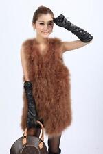 Hot sale New Real Ostrich Feather Fur Gilet Waistcoat Women Warm Winter 31312