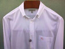 Camicia BURBERRY,WHITE/PINK stripes,logo BURBERRY ricamato,100% cotton,SIZE M