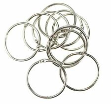 10-pcs-loose-leaf-binder-rings-book-ring-keychain-silver-1-5-inches