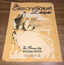 """Vintage Music 1953 """"THE COUNTESS OF WESTMORLANDS DELIGHT"""" by William Shield"""