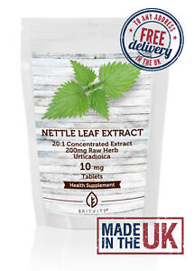 Nettle Leaf Extract Tablets Extract 200mg Raw Herb ✔Made in UK