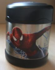"Spiderman Thermos Kids Insulated Food Drink Container Marvel 4.5"" Tall Pre Owned"