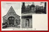 AK GROSSRÜCKERSWALDE bei Marienberg um 1930 Kriegerdenkmal, Madonna  ( 9176