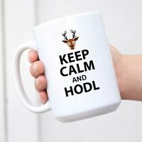 Keep Calm And HODL Bitcoin Mug Blockchain Coffee Mug Crypto Mug