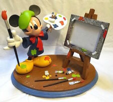 Extremely Rare! Walt Disney Mickey Mouse as Painter Big Figurine Statue