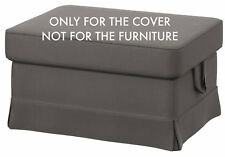 Ikea Ektorp Footstool Ottoman SlipCover NORDVALLA GRAY 402.975.08 Cover New