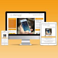 2017 Vorlage Template eBay mobile Auktionsvorlage +Editor #Diamond_Orange
