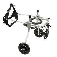 Anmas Box S/M/L Adjustable 2-Wheel Pet Wheelchair for Handicapped DogCatPuppy