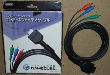 Nintendo Gamecube GC Official Genuine Component HD TV AV Cable Lead Adaptateur RARE