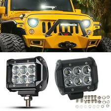 "2PCS 18W 12V 4"" Inch 6 LED Road Car Truck Boat Spot / Flood Beam Work Light Lamp"