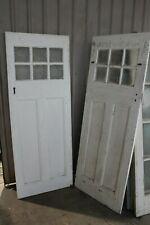 Antique Glass Timber Wooden Doors Knob Handle Front Entrance Vintage Art Deco