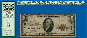 Philadelphia, Pennsylvania - 1929 $10 National (( CH # 13180)) PCGS F-12 - 7389-