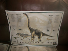 1993 Dinosaurs of Jurassic Park Movie  T-Rex Raptor MCA Rare Print Poster